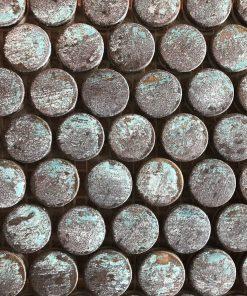 Verdigris Copper Mosaic